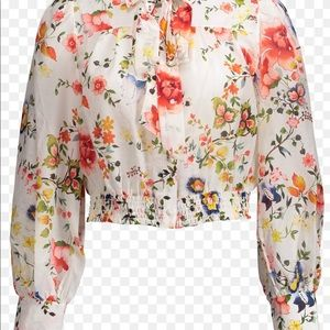 Alice + Olivia Issa Floral and White Top